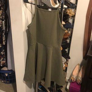 Olive green H&M swing dress size 8